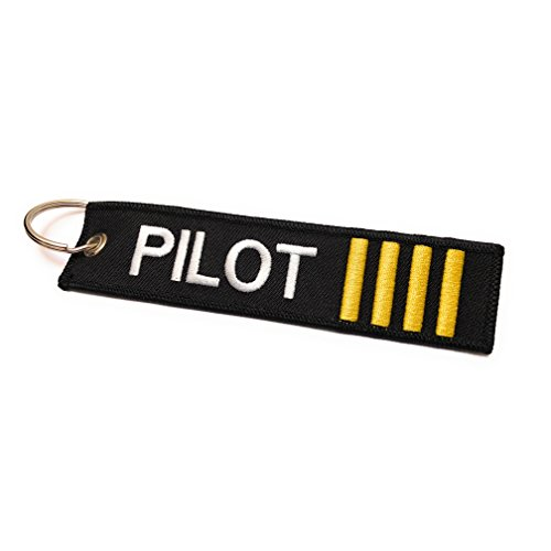 Price comparison product image Pilot Keychain / Luggage Tag / 4 Gold Stripes / aviamart