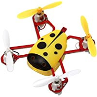 Dwi Dowellin 2.4G 4CH 6-Axis 360° rotation Remote Control Mini 3D Full flight Nano RC Quadcopter RTF Helicopter with Headless Mode UFO Drone CHEER-X1 Yellow