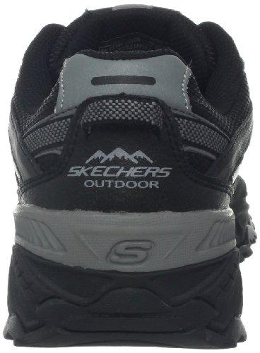 Skechers Sport Mens Sneaker Kirkwood Nero Carbone Di Legna