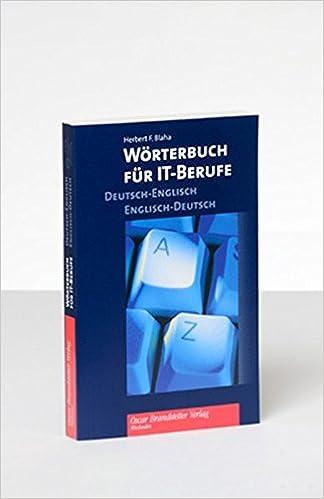 Wörterbuch für IT-Berufe: Deutsch-Englisch/Englisch-Deutsch: Amazon ...