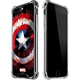 Skinit Captain America Shield iPhone 7/8 Plus Clear Case - Officially Licensed Marvel/Disney Phone Case Clear - Transparent iPhone 7/8 Plus Cover