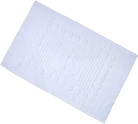 JzKz Alfombrilla de baño Algodón Absorbente Antideslizante Alfombrilla blanca Accesorios de baño: Amazon.es: Grandes electrodomésticos