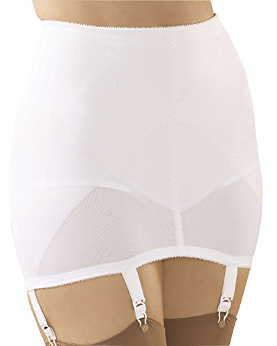 Cortland Intimates Gartered Open Bottom Girdle, White, 4X - Misses, Womens