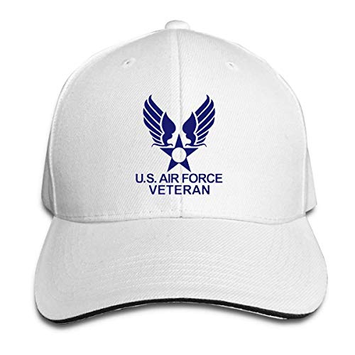 US Air Force Veteran USAF White Adjustable Trucker Hats Baseball Cap Sun Hat