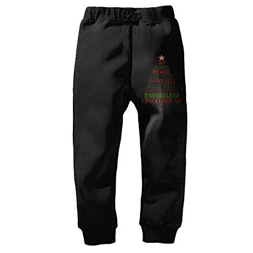 [PliPaLa Christmas Children's Sweatpants Black Size 2 Toddler] (Forrest Gump Kid Costume)