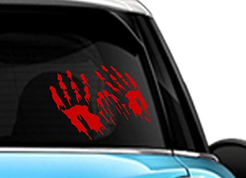 Bloody Zombie Hand Prints Red SCI-FI//Comics//Games Automotive Decal//Bumper Sticker