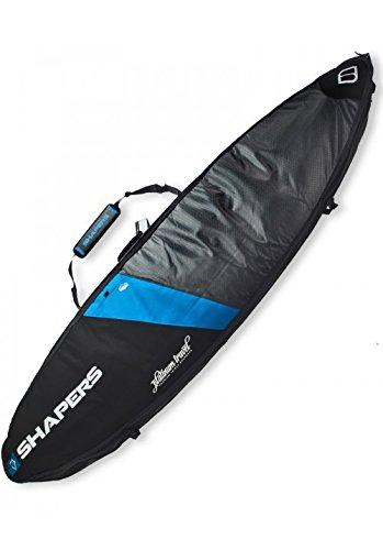 (Shapers Platinum Triple Travel Surfboard Bag - Choose Size (Black/Blue, 6'3))