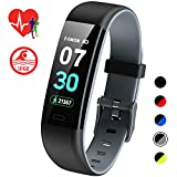 4. Mgaolo Fitness Tracker HR,Activity Tracker IP68 Waterproof Smart Watch Fit Wristband with Heart Rate Blood Pressure Sleep Monitor Pedometer Calorie Step Counter for Fitbit Android and iPhone  (Gray)