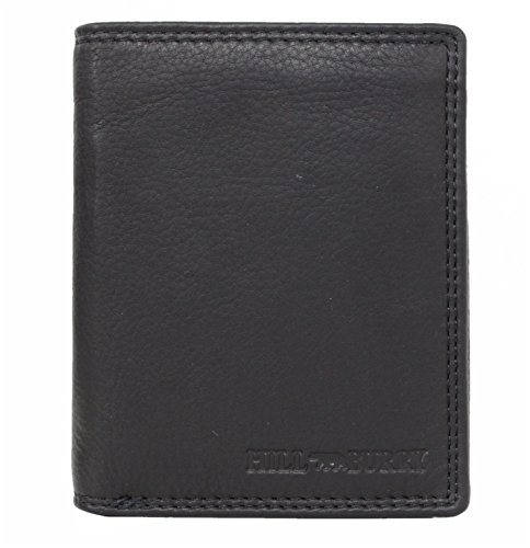 Genuine Leather Wallet for Men Handmade Bifold Wallets ID Card Holder with coin pocket Hill Burryblack Salem