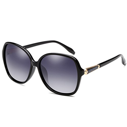 Las de UV400 de Color Que Color Grande Sol de Marco Gafas polarizadas la la los Playa Sol de de Gafas Protección Portátiles Sol Multi de conducen Gafas Gafas vidrios Señoras Black Manera AqaIYxwR