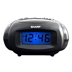 Sharp SPC500 LCD Alarm Clock (Black)