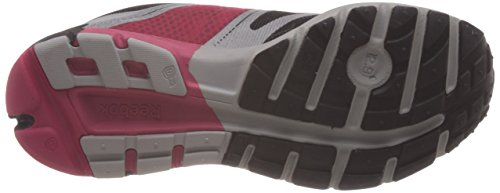 Reebok Womens One Cushion 2.0 Citylite, Nero / Argento / Rosa / Giallo, 6,5 Us