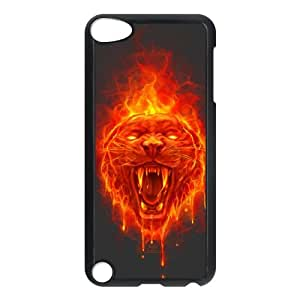 iPod Touch 5 Case Black Flaming Cat P3I8R