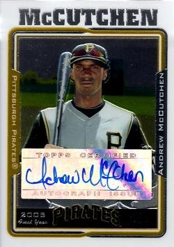 05 Topps Chrome Rookie Card - 2005 Topps Chrome Update #UH234 Andrew McCutchen Certified Autograph Baseball Rookie Card