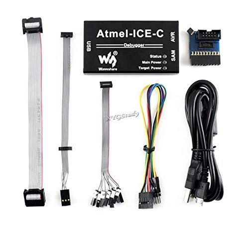 Compatible Powerful Atmel-ICE MCU AVR SAM Xmega Programmer Debugger On-chip  Debug Supports JTAG aWire PDI debugWIRE SWD TPI SPI Interface Original