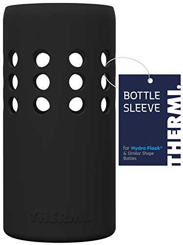 Thermi Protective Silicone Sleeve for Hydro Flask Water Bottles (Nero Black, - Sleeve Bottle Silicone