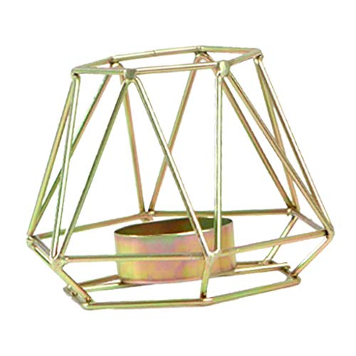 BROSCO Copper Wire 3D Geometric Candle Tea Light Holder Home Decor Party Supplies S
