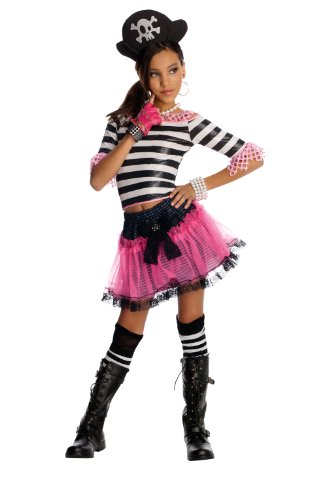 Drama Pirate - Rubie's Drama Queens Child Pirate Treasure Costume - Large (Ages 8 to 10)