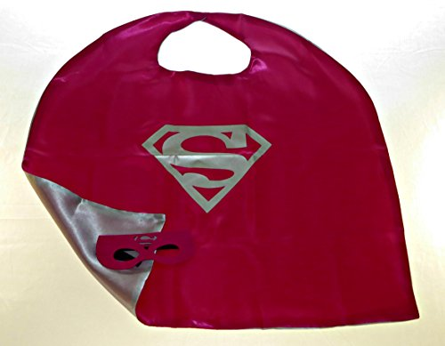 Super Girl Dress Up Cape Costume With Mask
