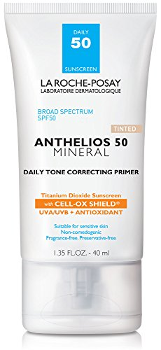 La Roche-Posay Anthelios Daily Tone Correcting Tinted Primer with SPF 50 Mineral Sunscreen, 1.35 Fl. Oz. ()