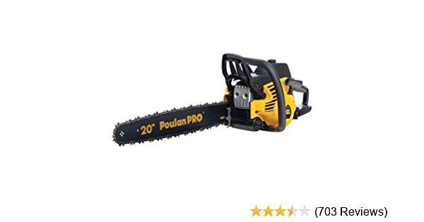 Amazon poulan pro pp5020av 20 inch 50cc 2 stroke gas powered amazon poulan pro pp5020av 20 inch 50cc 2 stroke gas powered chain saw with carrying case garden outdoor greentooth Images