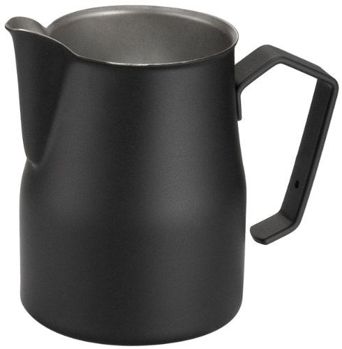 - Motta Stainless Steel Professional Milk Pitcher/Jugs, 17 Fluid Ounce, Black