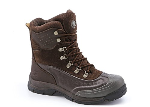 KINGSHOW Men's 1586-1 Waterproof Brown Cold Weather Boot 11 D(M) US