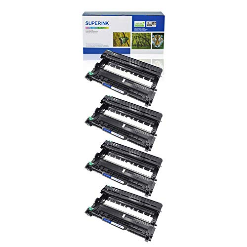 High Yield Drum Unit - SuperInk 4 Pack High Yield Drum Unit Replacement Compatible for Brother DR630 DR-630 DCP-L2520DW DCP-L2540DW Printers(Black)
