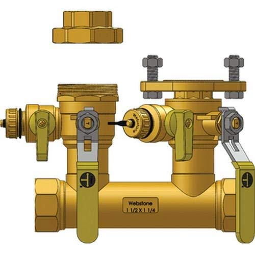 Webstone 48765-45 1-1//2 FIP Run x 1-1//4 Hydro-Core Right Flange Kit