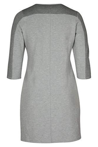PAPRIKA große Warmem Kleid in Größen Damen Passform entspannter Grau aus Strick TBUWTfrn
