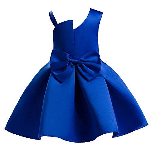 - Tueenhuge Baby Toddler Girls Party Dress Sleeveless Bowknot Wedding Bridesmaid Formal Princess Dress Blue