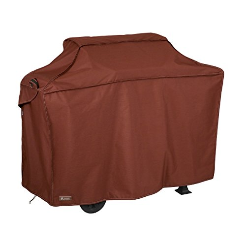 Red Grill Cover - Classic Accessories Montlake FadeSafe Heavy Duty Grill Cover, Heather Henna, Large