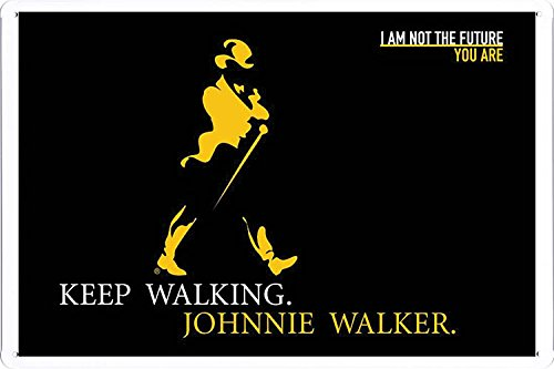 Whisky Johnnie Walker (Tin Sign Metal Poster Plate (8