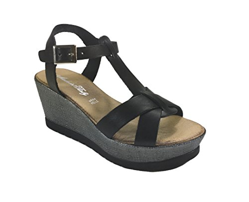 Fashion 6Carina Black Women's 6Carina Women's Sandals 6Carina Sandals Fashion Women's Black pCAw8UqT
