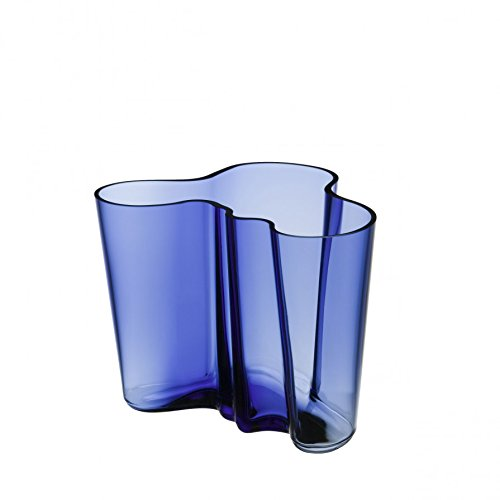 IITTALA Aalto Vase 160mm ult.blue FINLAND 100 Limited Color 2017