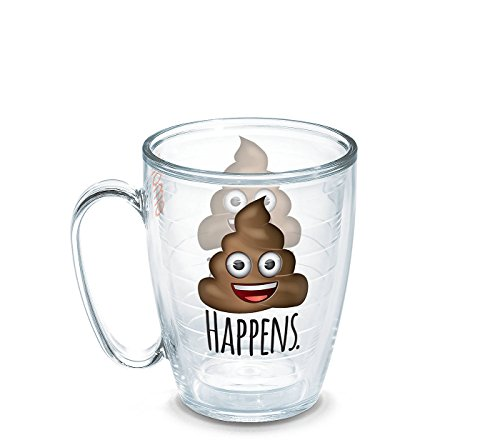 Tervis emoji Poop Happens 16 oz mug