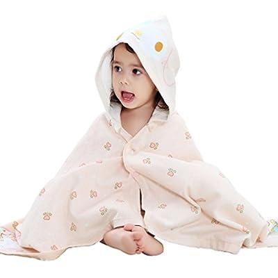 42107edd2 IDGIRLS Hooded Baby Bath Towel Soft Cotton Bathrobe for Boys Girls ...