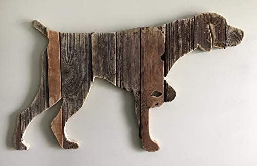 Wooden German Shorthaired Pointer pose4 silhouette made with reclaimed wood