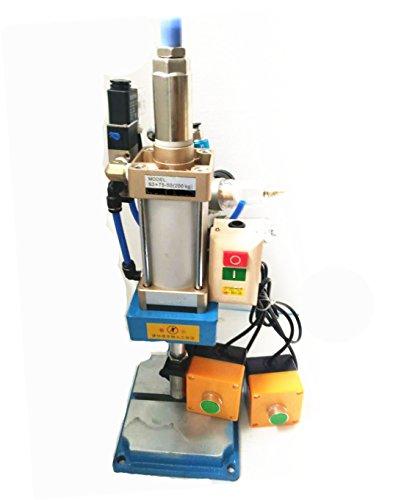 Pneumatic Press Machine Small Desktop Manual Punch Machine Pressure 200KG 110v or 220v by KUNHEWUHUA