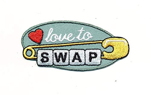 - Girl Love to SWAP Fun Patches Crests Badges Scouts Guide Pin Brownies Junior