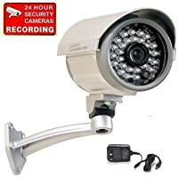 VideoSecu Bullet Security Camera Built-in 1/3 SONY CCD Outdoor Indoor Weatherproof Night Vision IR Infrared CCTV Camera with Free Power Supply C67