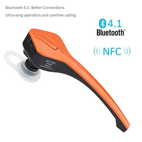 aLLreLi HD2 Bluetooth 4.1 Headset w/ NFC - Noise Cancellation Wireless Headphones - Orange