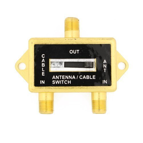 Coaxial Steren - Cable N Wireless Gold Plated Coaxial A/B Switch for Splite TV Antenna HDTV Cable 2 Way Digital Optical Coax Splitter (US Seller)