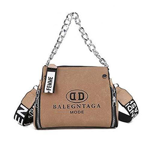 Stylish Crossbody Bags Purses Shoulder Bag for Women in Contrast  Design(brown-211711cm) 8b6b94430f65d