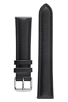 Signature Bali Waterproof Watch Band Calf Leather Watch Strap Replacement Bracelet. Steel and Golden Buckles
