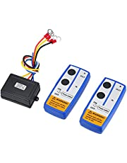 CHENGTIE 2pcs Wireless Winch Remote Control Kit 12V Recovery Switch Universal for Truck Jeep ATV SUV Switch