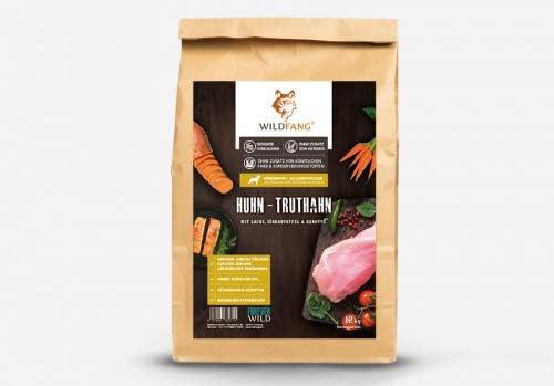 Wildfang alimento seco para Perros 2 kg I Alimento Libre de Cereales - Pollo con Pavo, salmón y Verduras I Comida Cachorros y Perros jóvenes I ...