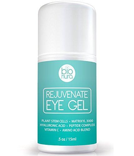 Die Beste Antialterung Augencreme Behandlung für dunkle Augenringe, Schwellungen und Fältchen. Eine Biologische Augengel mit Pflanzlichen Stammzellen, Matrixyl 3000, Aminosäuren, Peptide and Vitamin C. Kollagen Gebäude Formel Für ALLER Hauttypen. 15ml