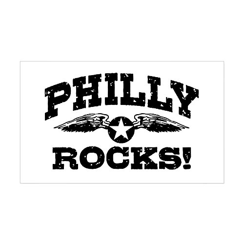 CafePress Philly Rocks Rectangle Bumper Sticker Car Decal