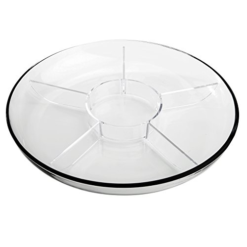 Anchor Hocking Presence 3-Piece Multi-Use serving Tray-Deep Serving Tray with Egg Insert and Veggie Insert (Glass Tray Platter)